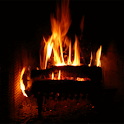 Crackling Fireplace Live Wallp