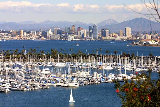 San-Diego-Downtown-skyline - The Downtown San Diego skyline from Point Loma.