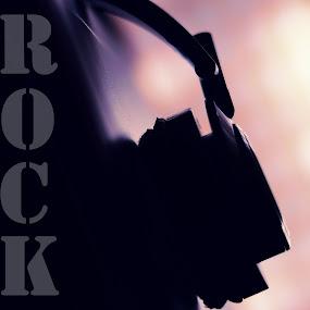 Rock by Madhu Payyan Vellatinkara - Typography Words ( music, cd cover, rock, nikon, head phone )