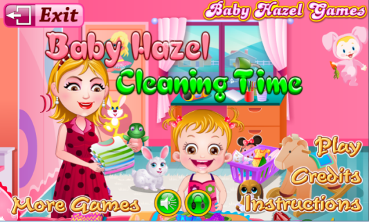 Baby Hazel Cleaning Time- screenshot