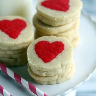 Slice n' Bake Valentine Heart Cookies.