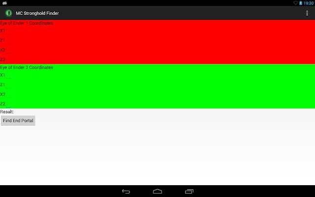 MC Stronghold Finder - screenshot