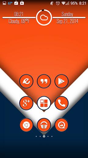 Rivalry Orange and Blue