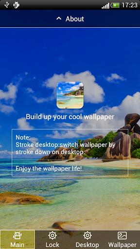 藍天白雲海岸動態壁紙屏幕鎖