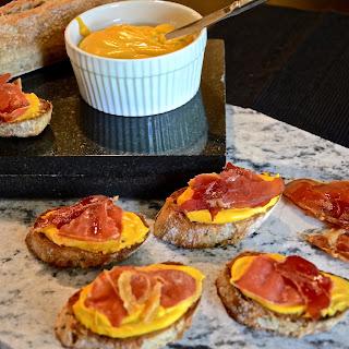 Caramelized Maple Butternut Squash and Prosciutto Crostini's.
