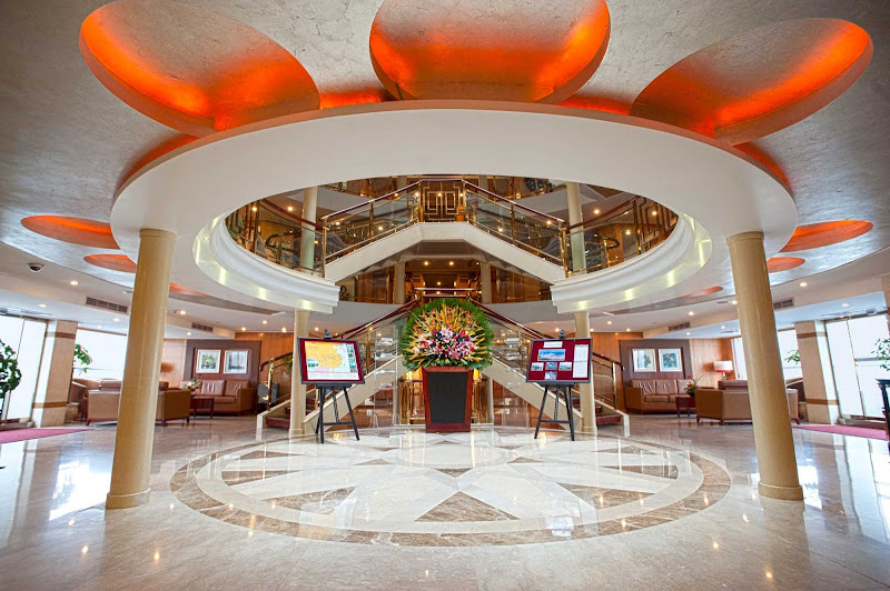 The marble floors, crystal chandeliers and soaring five-story atrium should make a good first impression when you arrive for your sailing on Viking Emerald.