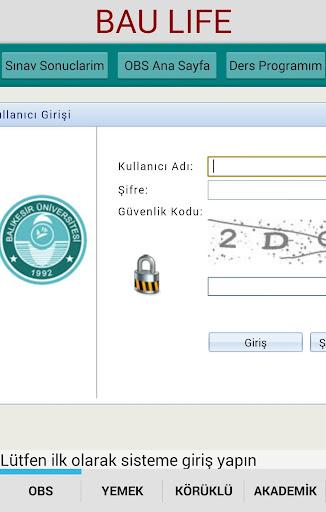 【免費教育App】BAÜ OBS Balıkesir Universitesi-APP點子