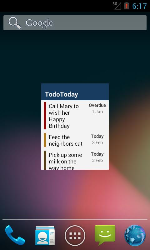TodoToday for Toodledo- screenshot