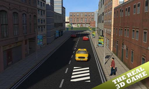 值班出租车司机的3D模拟器