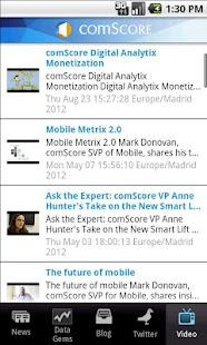 comScore News - screenshot thumbnail