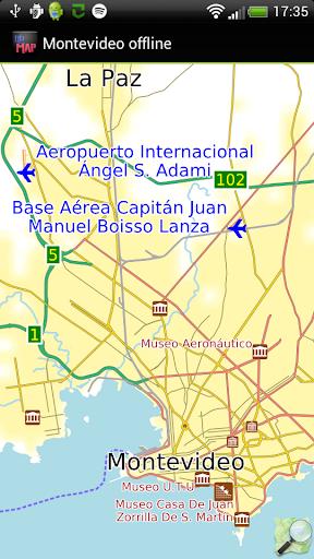 Montevideo offline map