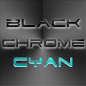 BLACKCHROME CYAN LAUNCHER ICON icon