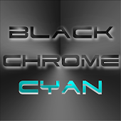 BLACKCHROME CYAN LAUNCHER ICON