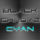 BLACKCHROME CYAN LAUNCHER ICON v3.1.1