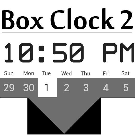 Box Clock Calendar for Zooper