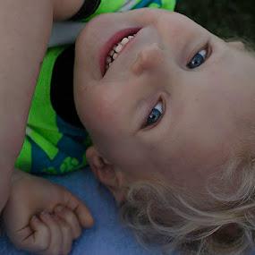 Blue eyes by Beckie Caughman - Babies & Children Children Candids ( children; outdoors,  )