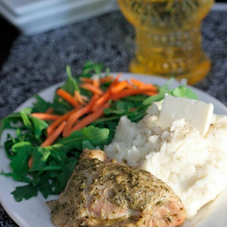 Crock Pot Pesto Ranch Chicken Thighs Recipe