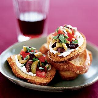Olive-Goat Cheese Bruschetta