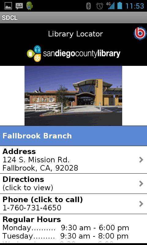 San Diego County Library - screenshot