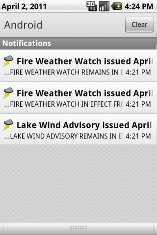 NOAA Radar and Alerts- screenshot