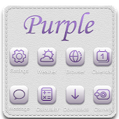 Purple GO LauncherEX Theme