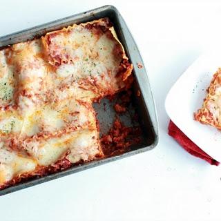 Three Cheese Lasagna with no Ricotta Cheese
