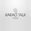 카카오톡 테마 심플화이트 icon