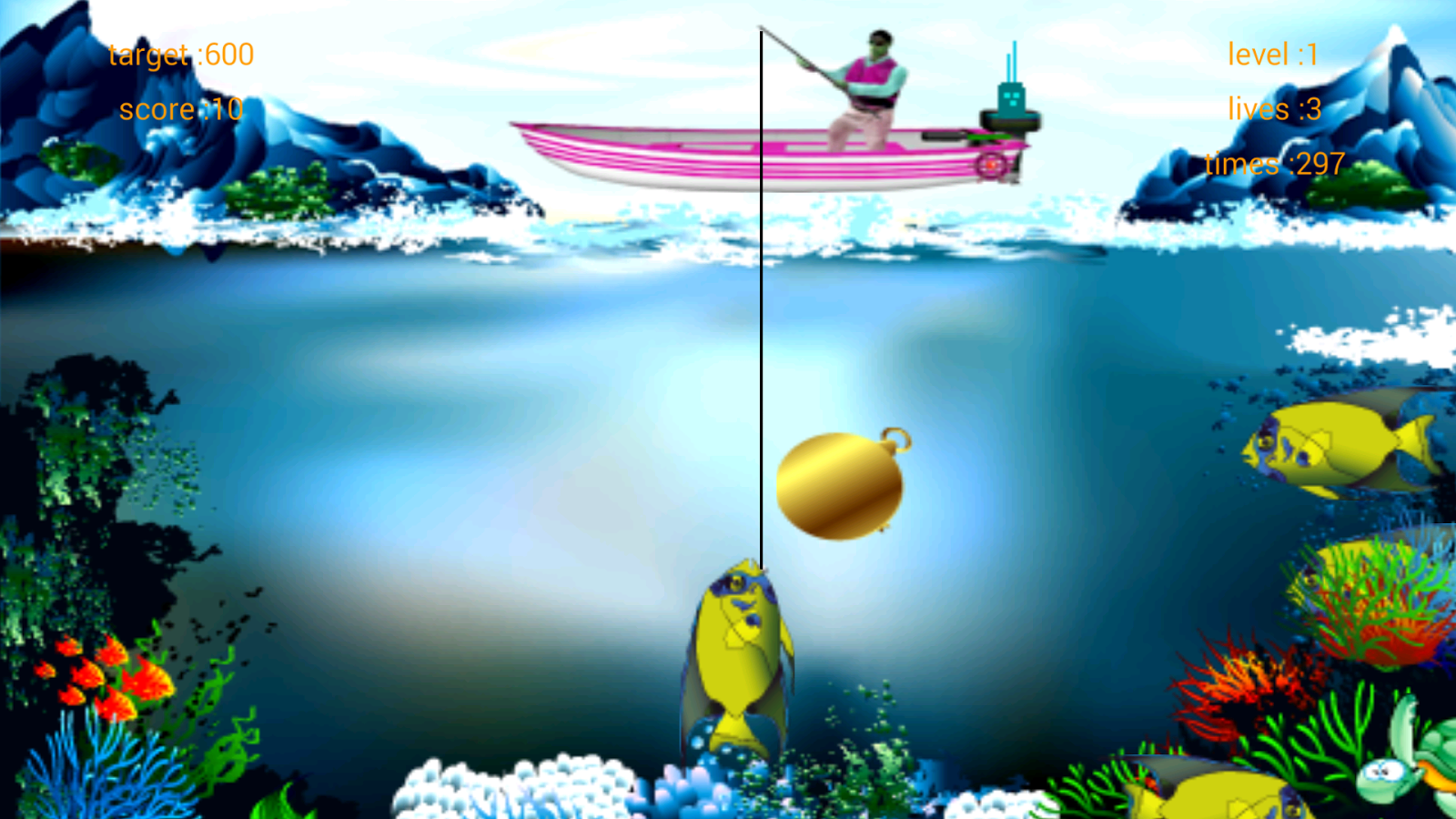 Catch fish and mermaid android apps on google play for Fish arcade game