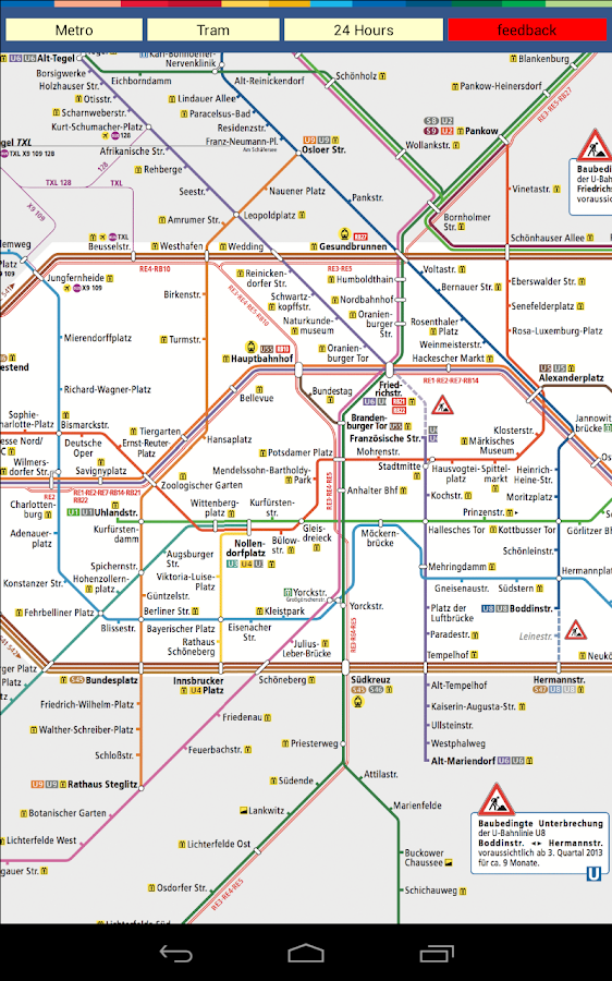 Berlin Subway Tram Map - screenshot