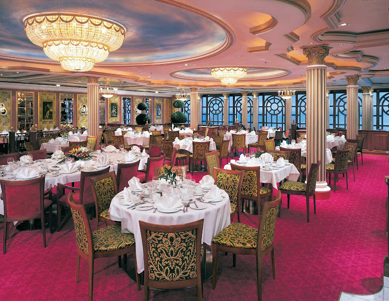 Versailles is one of the main dining rooms aboardf Norwegian Star.