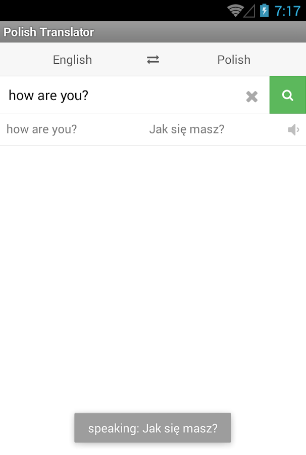 Polish Translator- screenshot