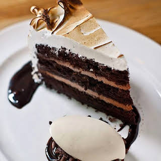 Devil's Food Cake with Black Pepper Boiled Icing.