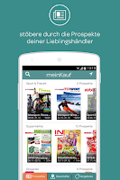 Screenshot of meinKauf Cashback & Prospekte