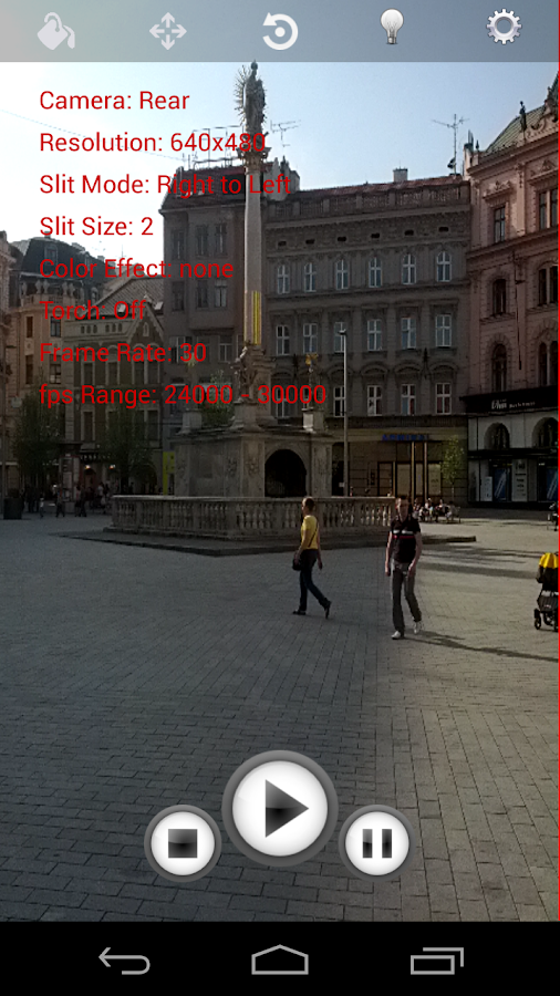Slit Scan Camera Lite - screenshot