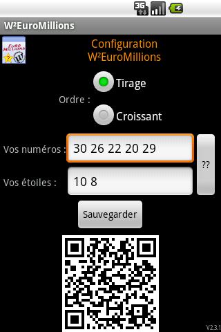 W²EuroMillions- screenshot