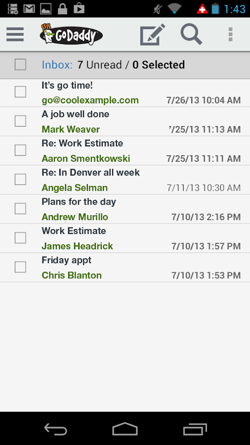 GoDaddy Mobile - screenshot