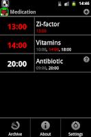 Screenshot of Medication