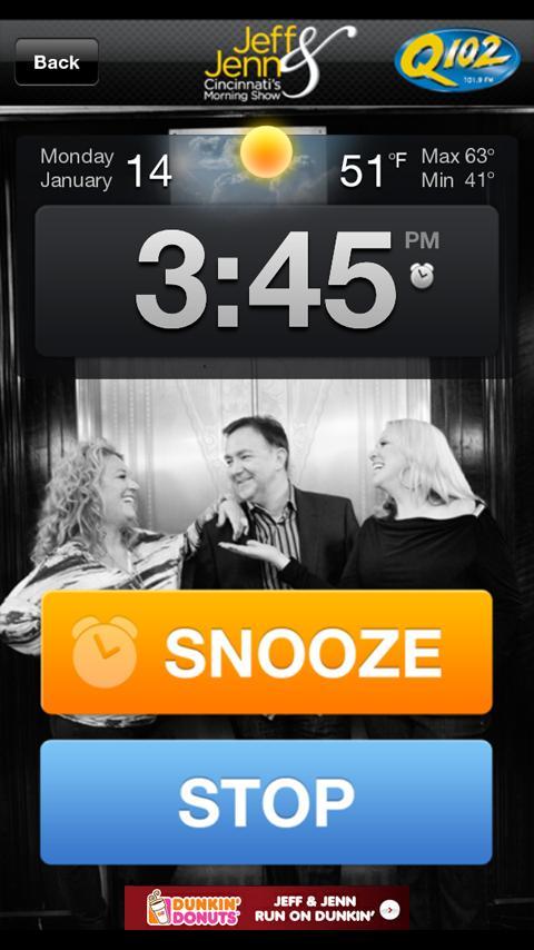 Jeff & Jenn Alarm Clock - screenshot