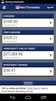 Screenshot of First Tennessee Mobile Banking