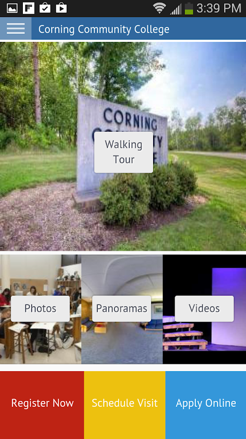 Corning Community College- screenshot