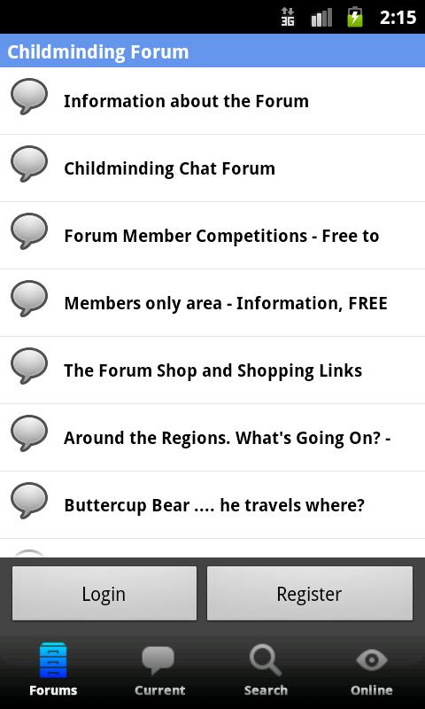 Childminding Forum- screenshot