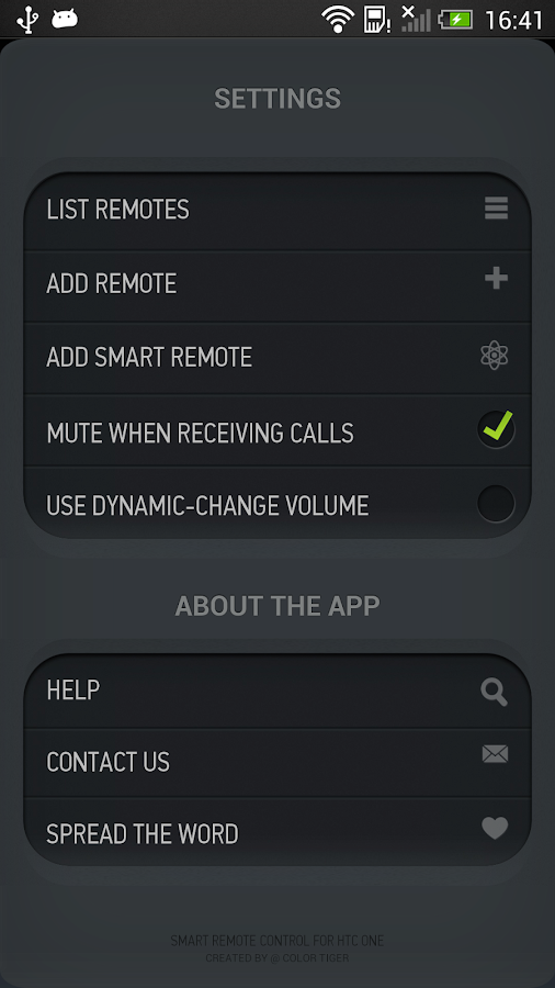 Smart IR Remote for HTC One- screenshot