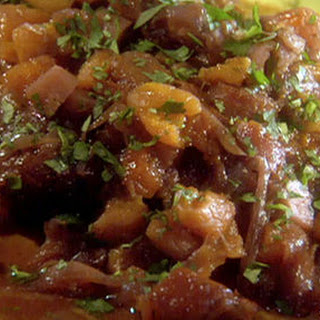 Slow Cooker Moroccan Brisket with Red Onions and Apricot Couscous Recipe