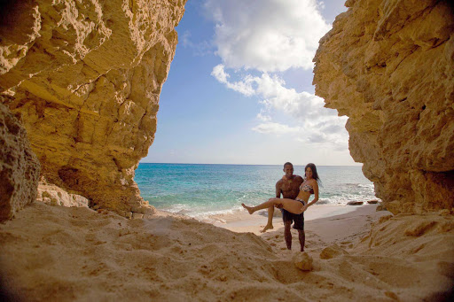 A couple near Cupecoy Beach in St. Maarten.