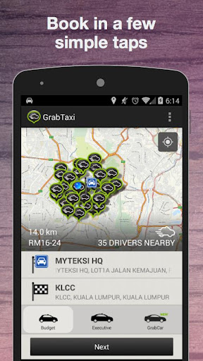 GrabTaxi: Taxi Booking App