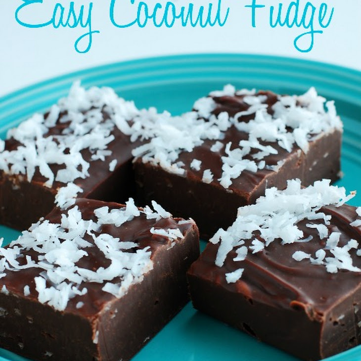 Easy Coconut Fudge Recipe