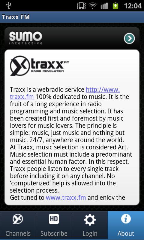 Traxx FM- screenshot