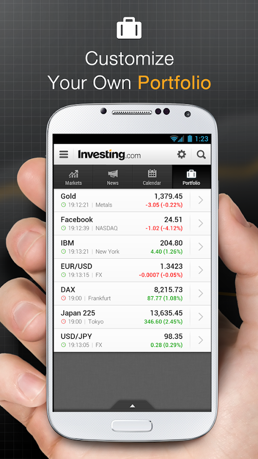 Stock options app for android