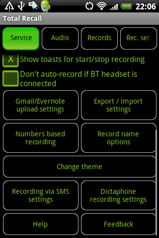 Call Recorder Total Recall FULL v1.9.7b