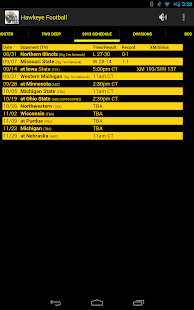 Hawkeye Football Schedule Screenshot 14
